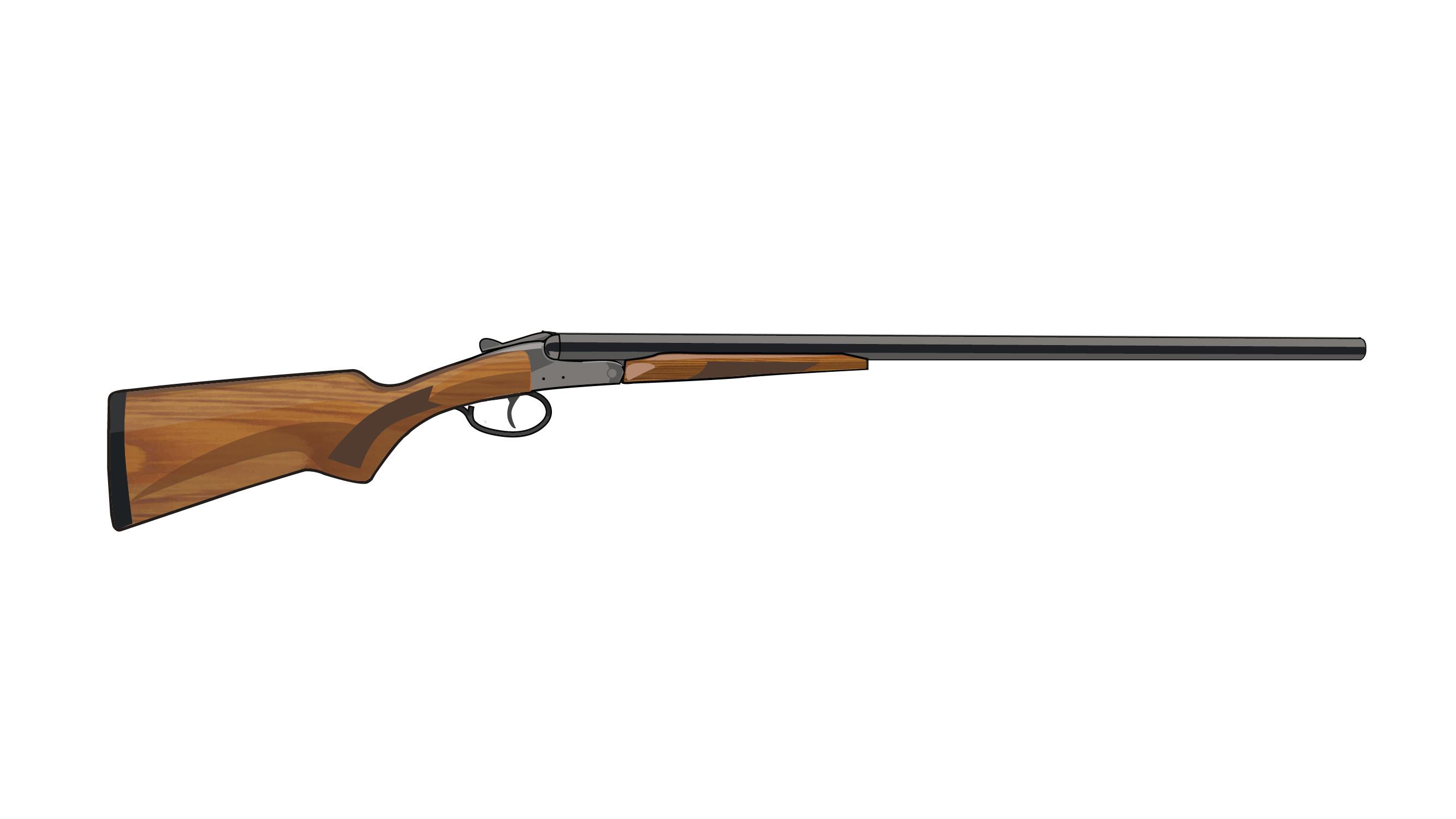 Illustration of a single barrel shotgun.